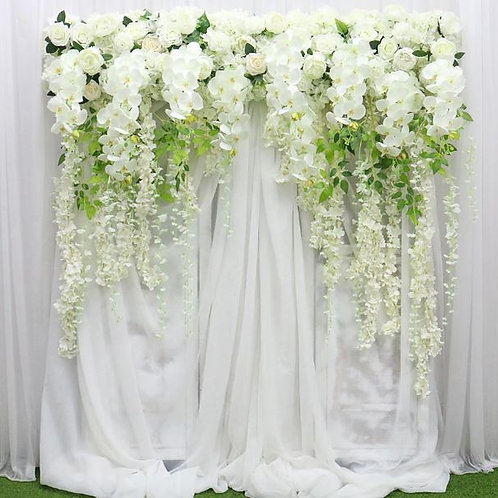 Artificial  Ivory 150cm Wisteria Orchid flower row/ floral garland