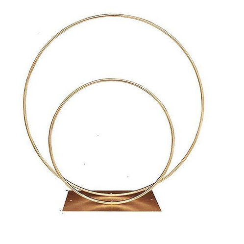 x 10pcs Double Hoop wedding centerpiece/ Gold metal hoop arch