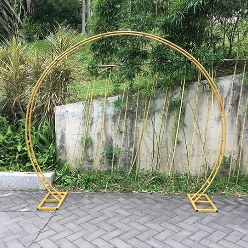 2.4m Gold Iron metal arch/ round ceremony arch