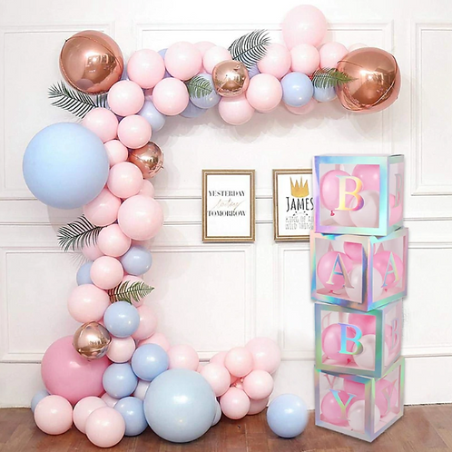 Baby shower balloon holder, Baby shower background decor, gender reveaL