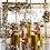 Thumbnail: 5PCS/set Cake Pillar wedding pedestal Gold Plinths
