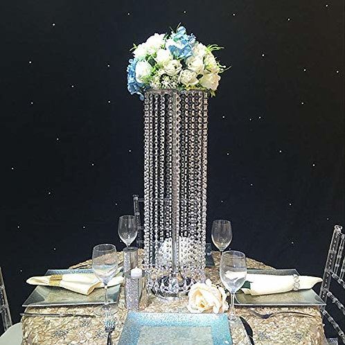 70cm Silver Metal Crystal wedding centerpiece