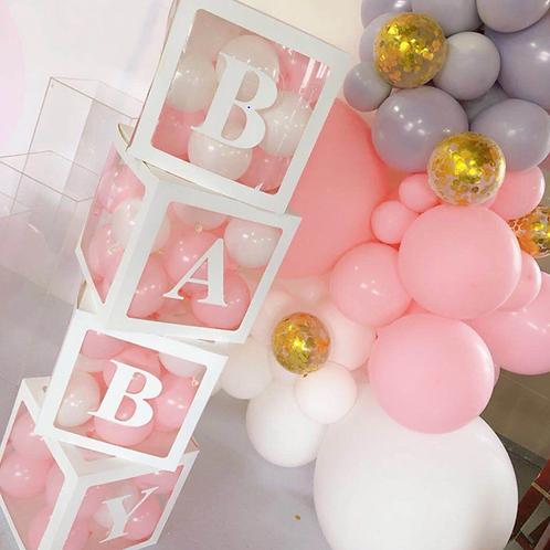Baby shower balloon holder, Baby shower background decor