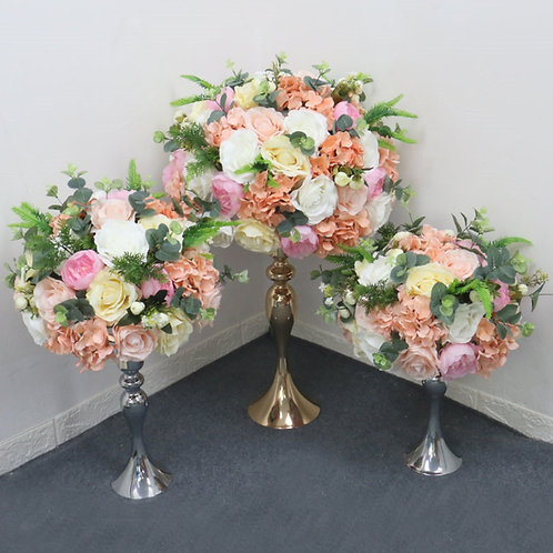 Mixed pink and Ivory/ Artificial Rose hydrangea flower ball