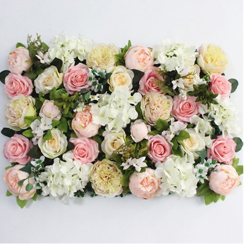 Mixed pink flower wall/ Floral wall/ Wedding flower wall