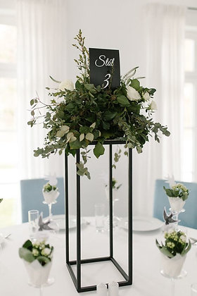 10pcs Modern Rectangular Tall Metal Stand Wedding Centerpiece, geometric stand