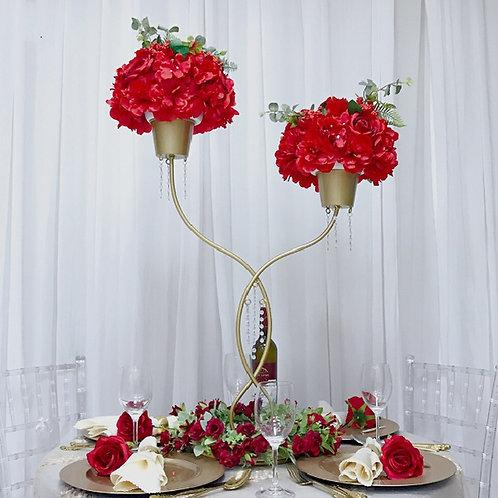 10pcs 78cm Gold Metal wedding centerpiece/ Cross Bar Flower Stand