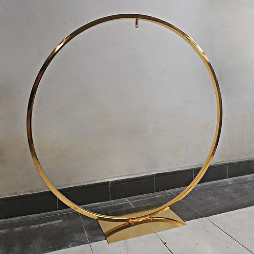 x5 100cm Large hoop centerpiece/ cake backdrop/ Gold grand centerpiece
