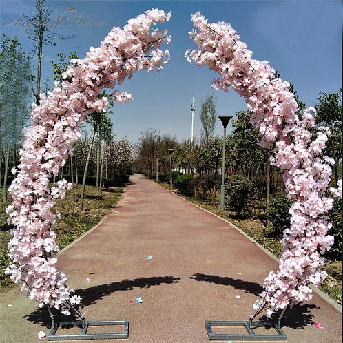 Dusty pink 2.5M artificial cherry blossom arch