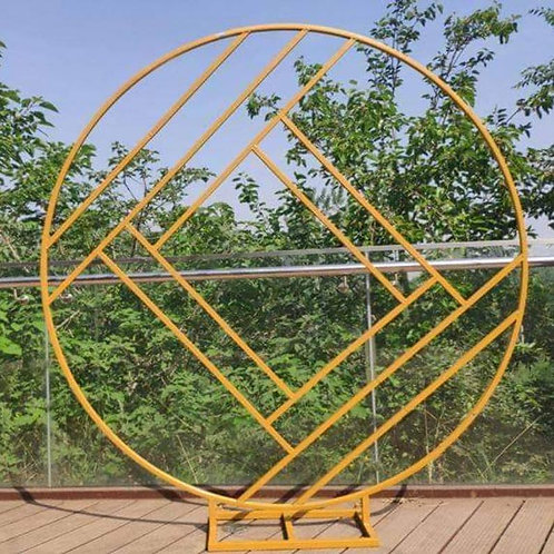 Gold Circle Iron metal arch/ round ceremony arch/ flower arch backdrop/