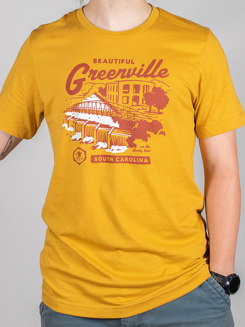 Greenville Matchbook Tee Mustard