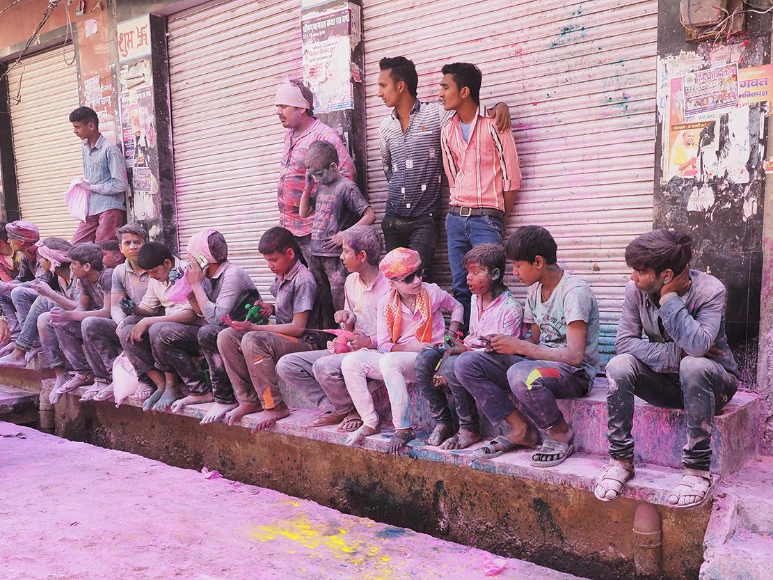 Street photography - Holi by Ranjan
