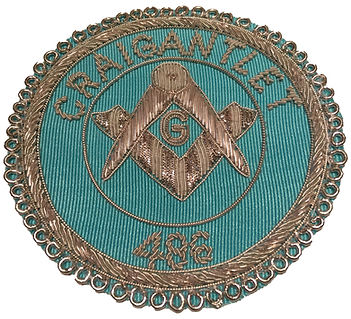 MasonicApron Badge Craigantlet 486