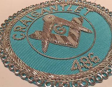 Masonic Apron Badge at Craigantlet 486