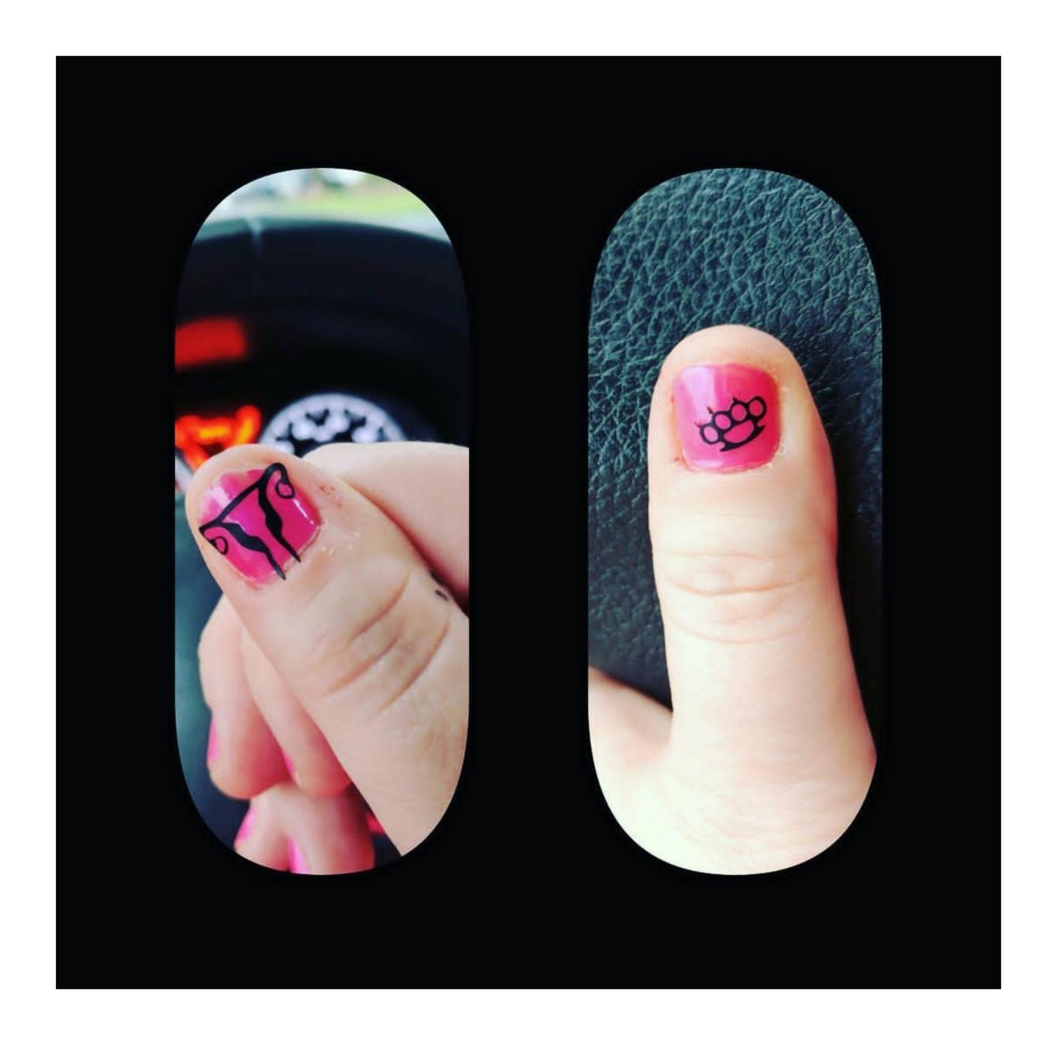 Vinyl nail decals