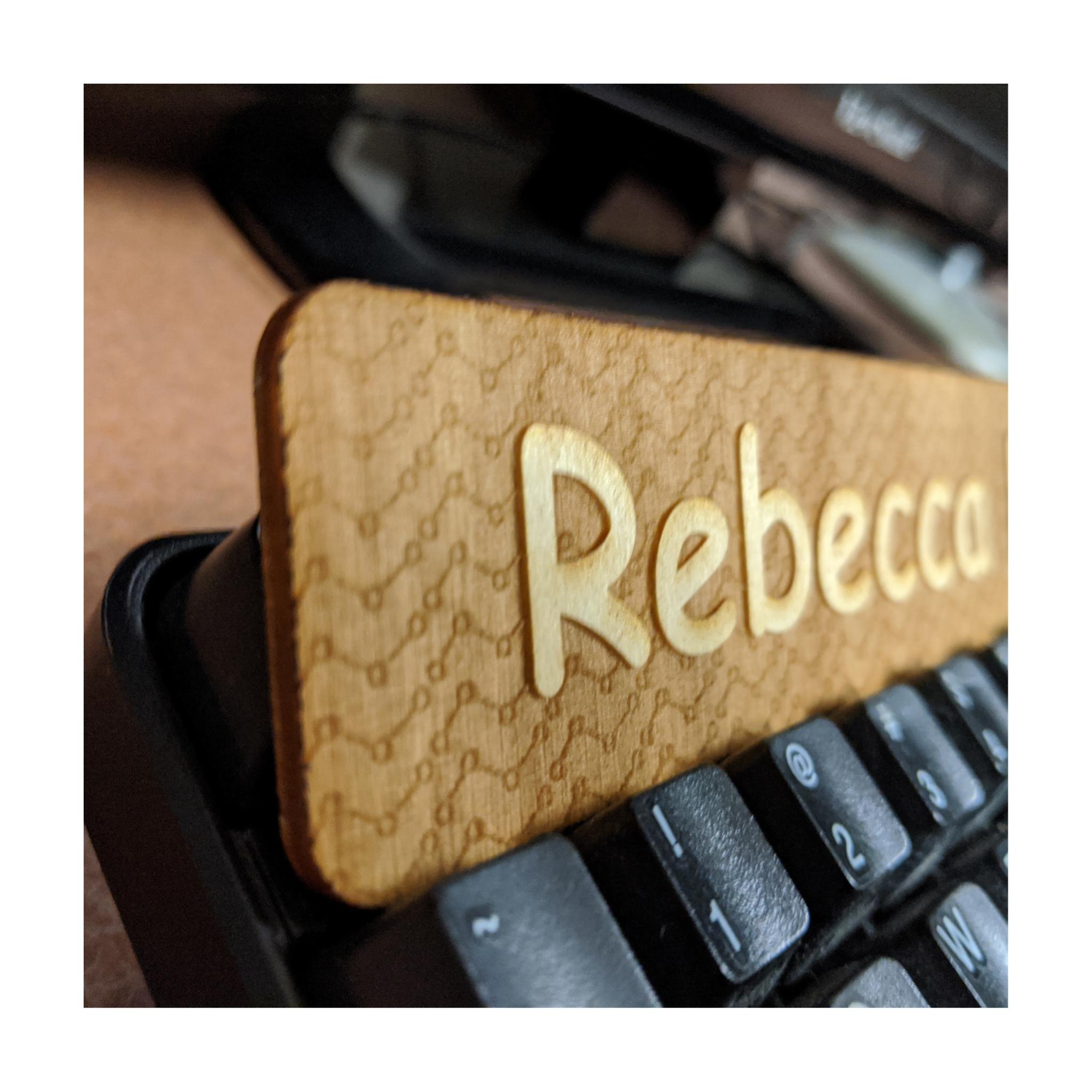 Rebecca's Nameplate