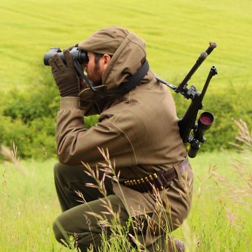 Nomad Uk Hooded Smock : Grampian stealth tweed