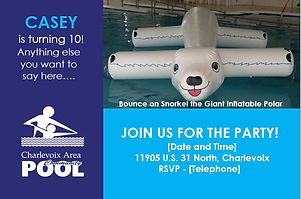 Birthday Invitation | Charlevoix Area Community Pool
