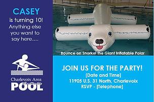 Birthday Invitation | Charlevoix Area Community Pool