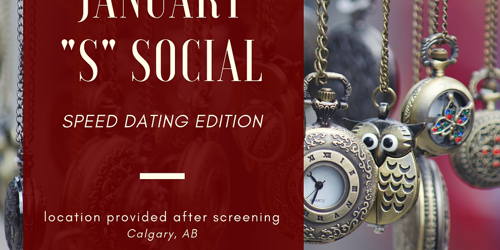 """January """"S"""" Social - Speed Dating (1)"""