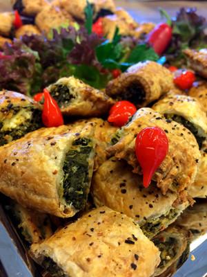 Butterdejsæske med spinat & feta