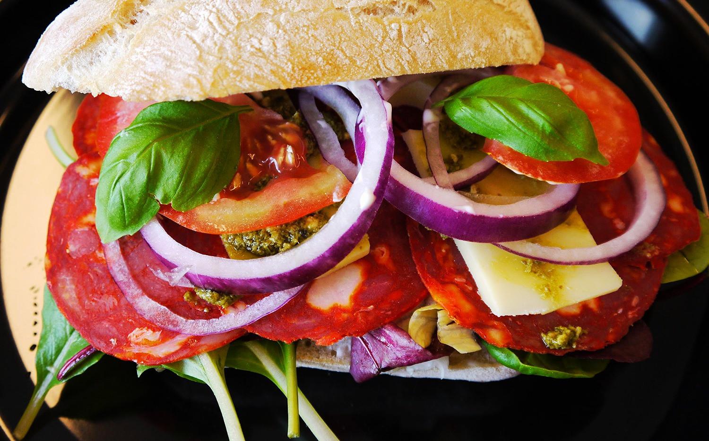Sandwich fra cafeen