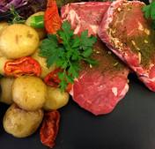Kalveribeye steaks & tilbehør