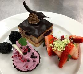 Dessert anretning