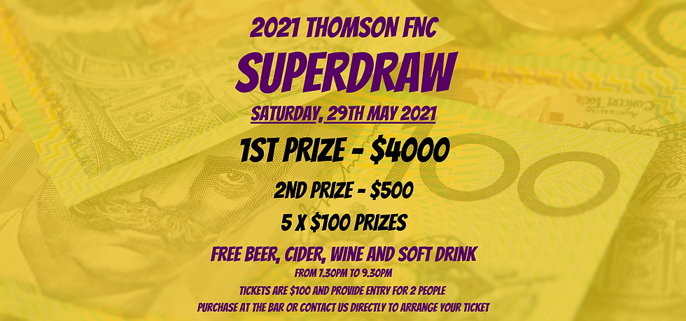 2021 Superdraw Ticket