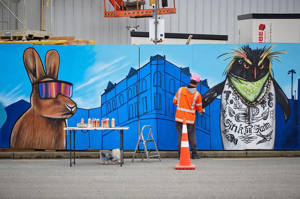The mural-artist behind Canada Street.