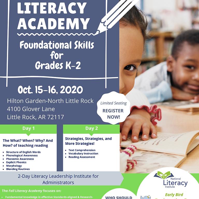 AR Fall Literacy Academy