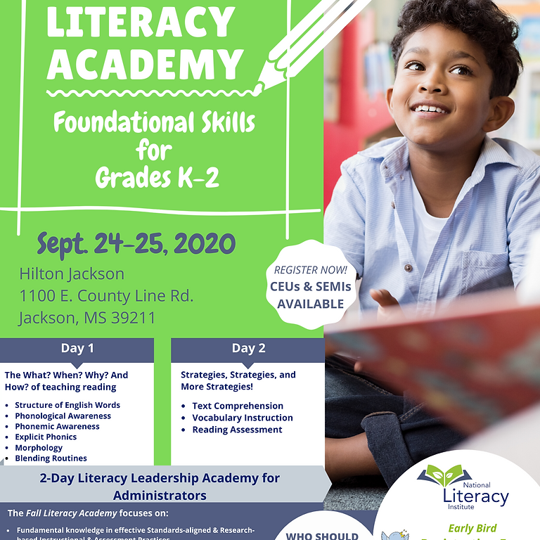 MS Fall Literacy Academy
