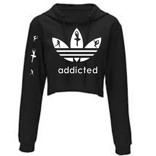 Addicted Cropped Sweatshirt