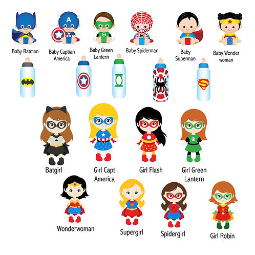 Baby and Girl Superheros