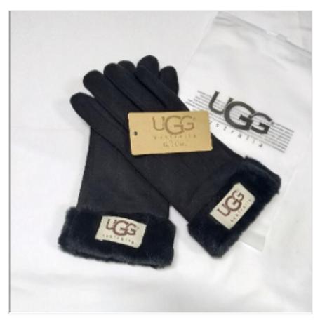 UGG replica Suede Gloves-Black