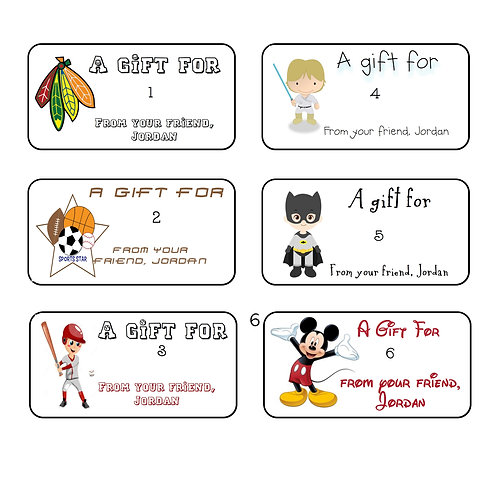 Gift Labels-Boys