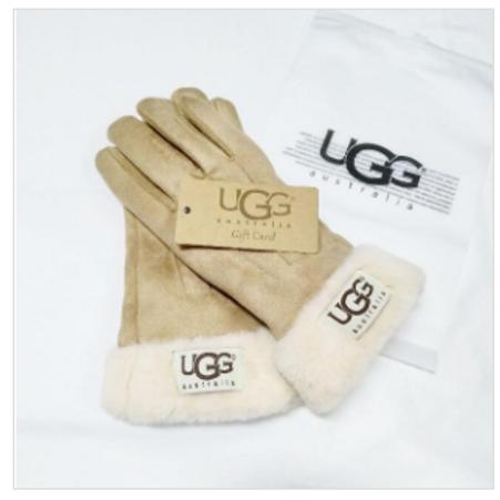 UGG replica Suede Gloves-Camel