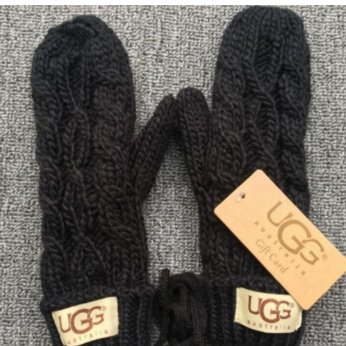UGG replica Cable Knit Mitten-Black