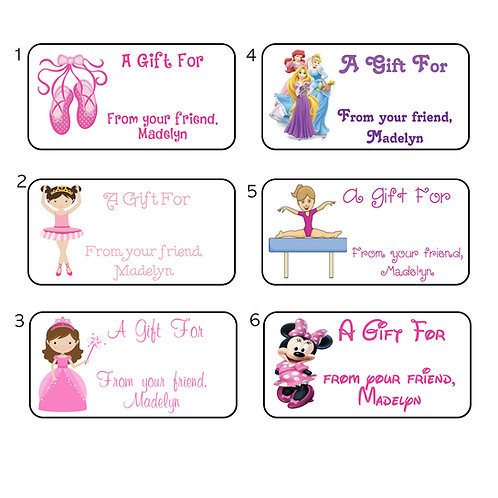 Gift Labels-Girls