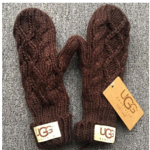 UGG replica Cable Knit Mitten-Brown
