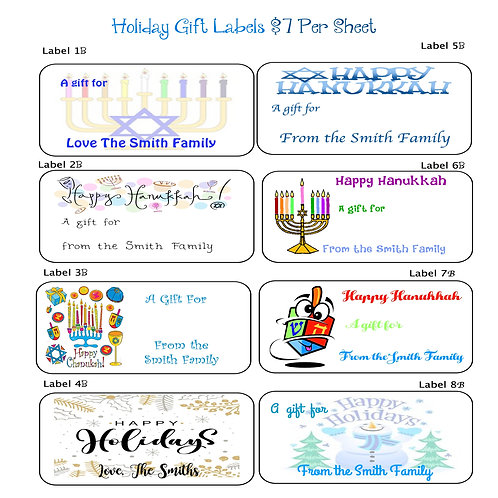 Holiday Gift Labels Collection B