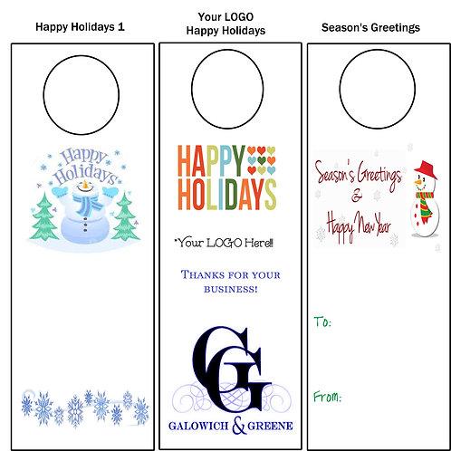 Wine Tags - Seasons Greetings - Business Logo