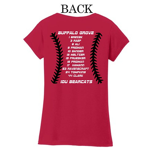 Bearcats 10U Mom's V-neck T-shirt