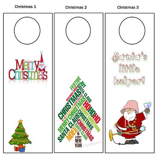 Wine Tags - Merry Christmas
