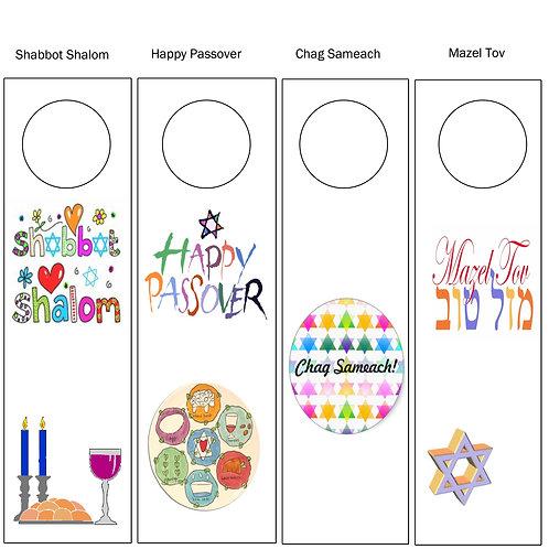 Wine Tags - Jewish Themed