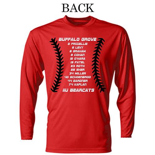 Bearcats 11U Red long sleeve shirt