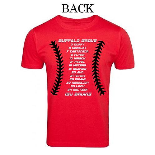 15U Bruins Roster Shirt
