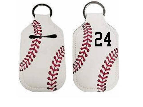 Baseball Hand Sanitzer Key Ring