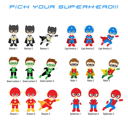 More Superheros!