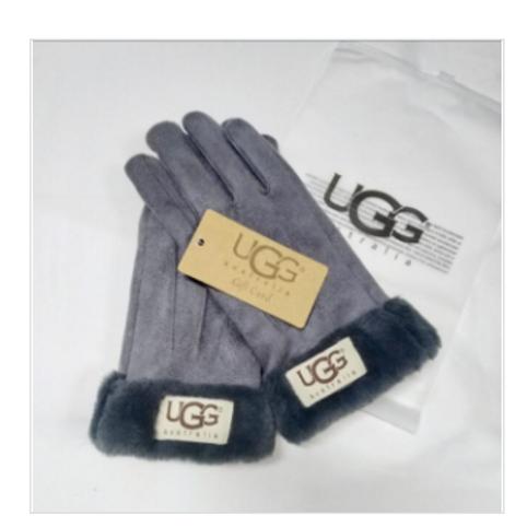 UGG replica Suede Gloves-Gray